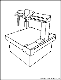 machine coloring page