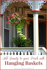 Front Porch Planter Ideas by Hanging Baskets Hanging Flower Baskets Home Landscaping Photos