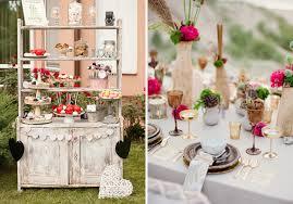 decoration mariage vintage déco de mariage rustique chic des fleurs et des rubans déco
