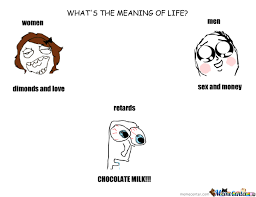 What Is The Meaning Of Meme - chocolate milk is the meaning of life by roni meme center