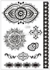 new black lace temporary tattoo paper bracelet elegant flash tatoo