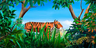 bengal tiger walks through the jungle by multipedia videohive