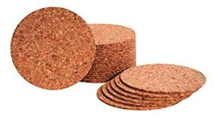 cork coasters hygloss cork coaster 4 x 1 8 in pack of 24 office