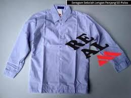Seragam Sekolah Lengan Panjang baju seragam sekolah lengan panjang sd polos ukuran 10 setelan