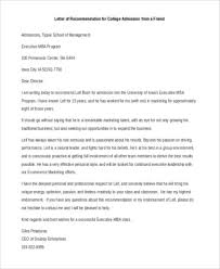 recommendation letter editing