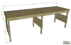 Plans For Building A Heavy Duty Picnic Table by Remodelaholic Diy Portable Workbench Or Folding Table