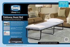Walmart Rollaway Beds by Amazon Com Simmons Beauty Sleep Foldaway Guest Bed Twin