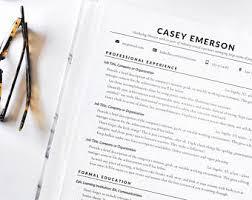 cv resume template resume template etsy
