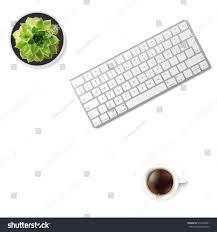 white office desk table wireless aluminum stock vector 516463891