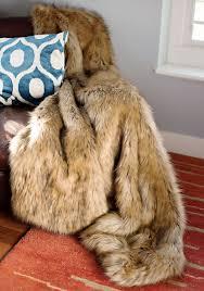 Faux Fox Fur Throw Designer Fur Fashion Fur Fur In Fashion Throw Blanket Fur