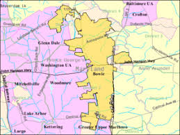 map of maryland with cities bowie maryland
