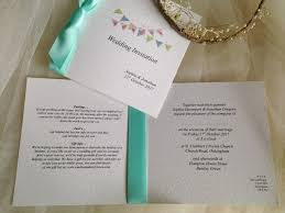 folding wedding invitations summer bunting wedding stationery