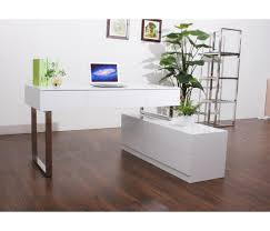 modern white lacquer desk unique office furniture awesome unique ideas used office
