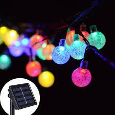 amazon com solar string light fansteck globe 10 led decorating