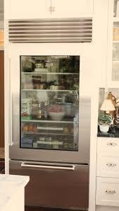 glass door refrigerator residential kitchen glass beverage fridge