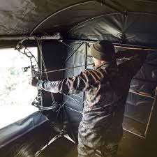 Hunting Blind Windows And Doors Rivers Edge Landmark Permanent Hunting Blind From Rivers Edge