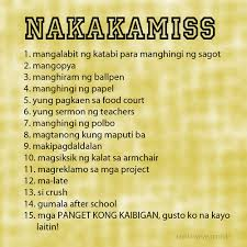 Wedding Quotes Tagalog Tagalog Nakakamiss Picture Quotes Pinoy Trend Where
