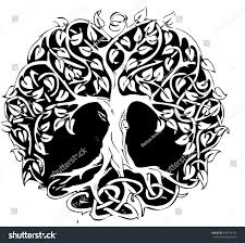 circle tree design stock vector 549735148