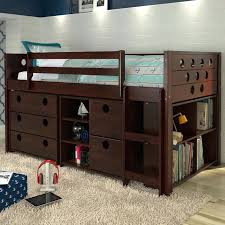 wooden loft bed frame awesome best solid wood bunk beds ideas on