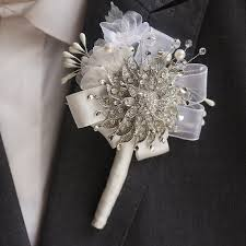 lapel flowers handmade groom corsages bestman lapel flowers silver brooch
