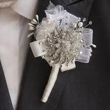 lapel flowers handmade groom corsages bestman lapel flowers silver brooch