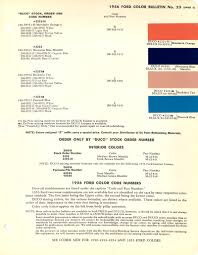 1956 ford car models engines options upholstery paint colors