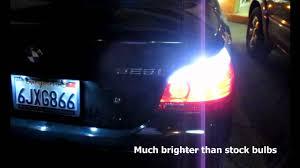bmw e60 525i with error free 7507 py21w led bulbs for turn signal