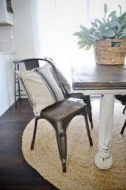 farmhouse table with metal chairs rustic metal chairs westmontcatering com