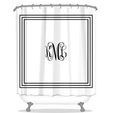 Classic Shower Curtain Classic Monogram Personalized Shower Curtain Monogrammed Shower