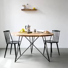 Esszimmertisch Design Esstisch Round Oak Massive Eiche U0026 Design Stahlgestell Stil