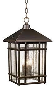 Outdoor Hanging Light Fixture J Du J Craftsman 16 1 2 High Outdoor Hanging Light