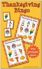 thanksgiving bingo free printable gifts bingo and