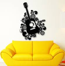 compare prices on music instruments sticker wall online shopping wall stickers vinyl decal beautiful guitar music instrument china mainland