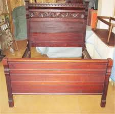 antique full size double carved cherry bed late 1800s headboard