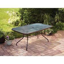 Patio Glass Table Mainstays Courtyard Creations Glass Top Outdoor Dining Table