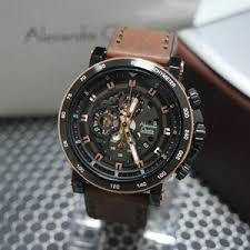 Jam Tangan Alexandre Christie Cowok jam tangan alexandre christie pria ac 6429 black rosegold original