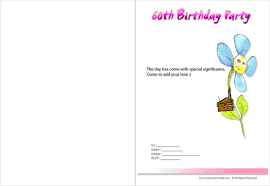 60th birthday invites free template 28 images 22 60th birthday