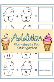 free ice cream addition worksheets for kindergarten addition