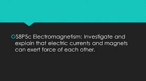 magnetism and electricity vocabulary week 3 s8p5c