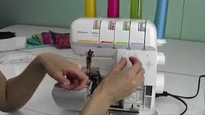 husqvarna viking h class 200s serger 4 threading youtube