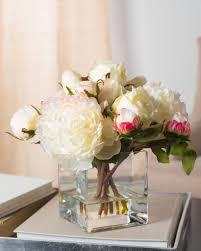 Peony Arrangement English Garden Rose Flower Arrangement U0026 Greenery Balsam Hill