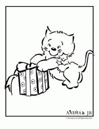 christmas coloring pages christmas kittens animal jr
