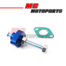 cnc blue manual cam chain tensioner fit atv suzuki ltz 400 year 03