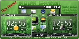 udjo42 themes for nokia c3 aqua green live theme for nokia c3 x2 01 themereflex
