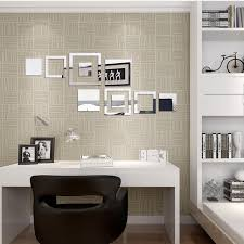Background Wall Mirror Wall Tiles Contemporary Bedroom by 3d Wallpaper Geometric Square Mirror Wall Stickers Modern Simple