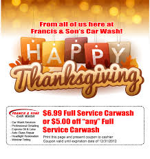 2012 thanksgiving coupon special