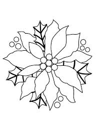 poinsettia flower coloring pages download and print poinsettia