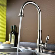 tracier single handle gooseneck vintage kitchen sink faucet in