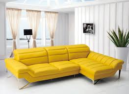 tufted leather sectional sofa casa leven modern yellow leather sectional sofa