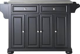 stainless steel top kitchen island darby home co pottstown kitchen island with stainless steel top